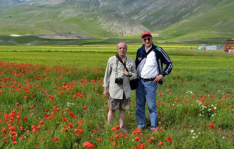 Rossano e Ennio, pian grande di Castelluccio 22-06-2013.jpg