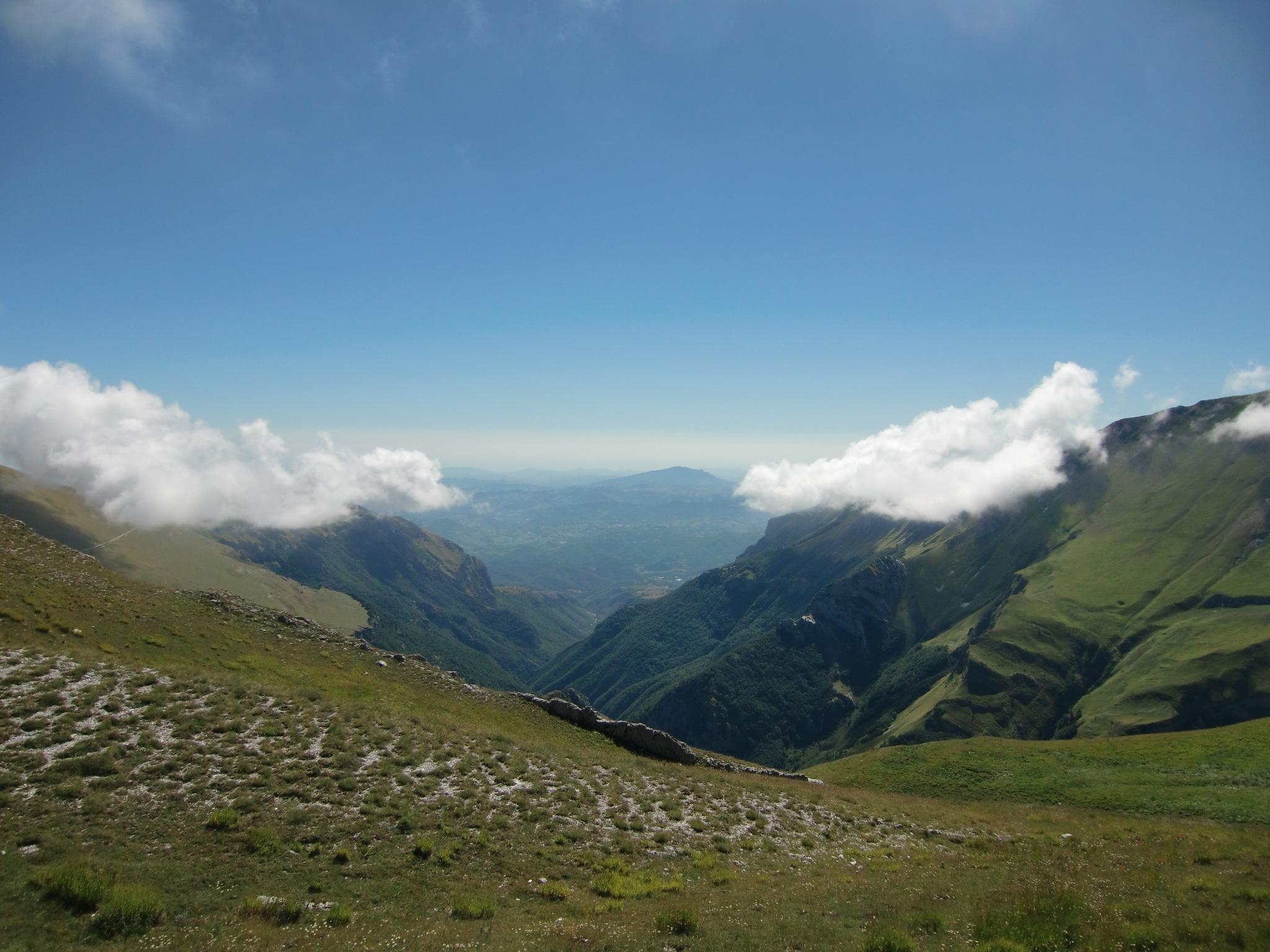 Monti Sibillini - Panorama da Forcella Angagnola